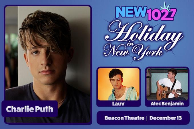 102.7's Holiday in New York: Charlie Puth at Beacon Theatre