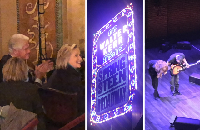Bill and Hillary Clinton at Beacon Theatre