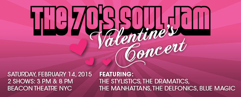 The 70s Soul Jam Valentines Concert at Beacon Theatre