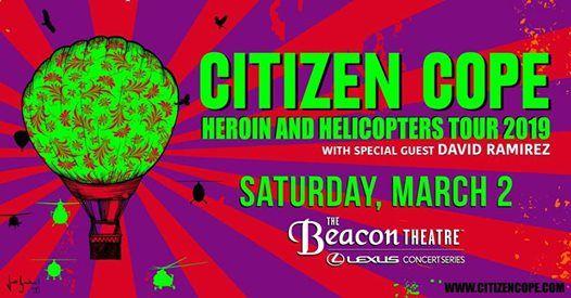 Citizen Cope at Beacon Theatre