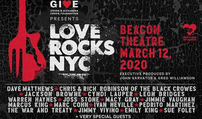 Love Rocks NYC! Dave Matthews, Chris Robinson, Jackson Browne & Cyndi Lauper at Beacon Theatre